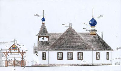 Baznīcas atjaunošanas projekts (arh. Ludmila Kļešņina, konstr. Arnis Asis)