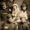The Russian  soldiers and nurses