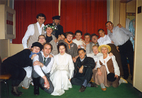 The theatre troupe at a festival in Moscow