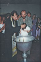 Christening of the baby