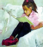 Ludmila Perets «Girl with a book»