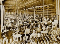 One of the workshops of the boot works
