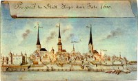 Panorama of Riga. 1650