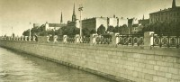 The embankment in Riga in 1950`s