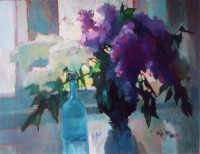 Ludmila Perets. Lilacs on the window