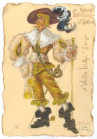 Sketch of a costume used in the film