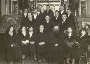 Fr. Alexey Toropogritsky with the choir of the Riga All Saints Church